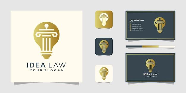 Logo de la loi sur les ampoules et carte de visite