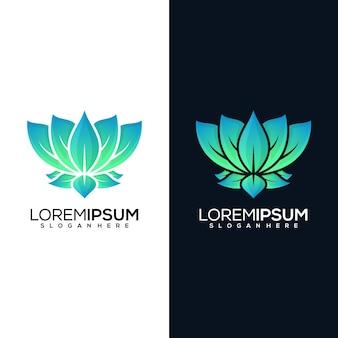 Logo de lotus abstrait en deux versions