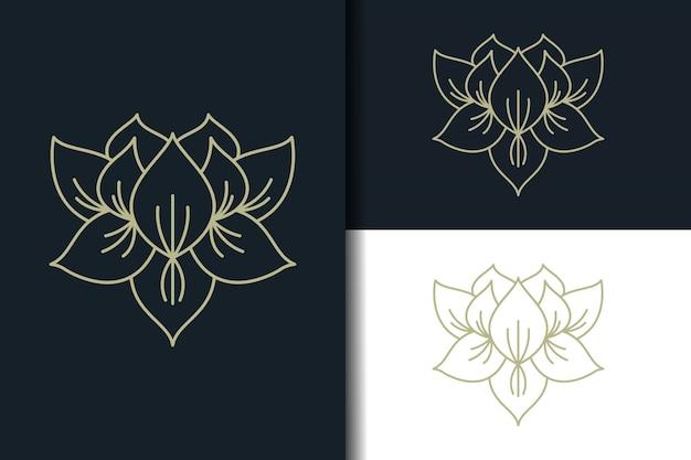 Logo de lotus abstrait