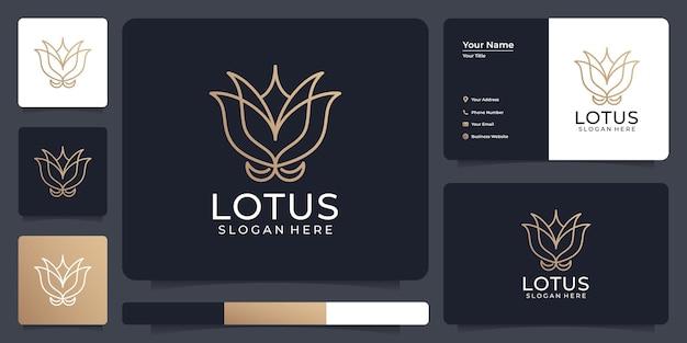 Logo de lotus de ligne minimaliste