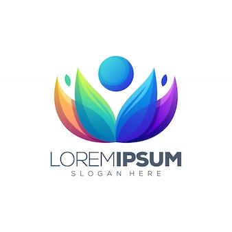 Logo de lotus de yoga