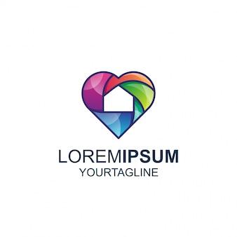Logo love home couleur et ligne awesome inspiration