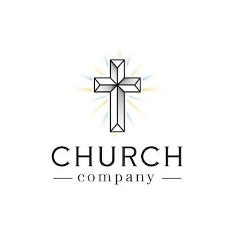 Logo de lumières de foi d'église