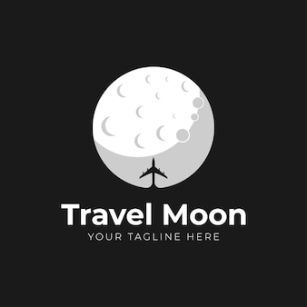 Logo de lune de voyage