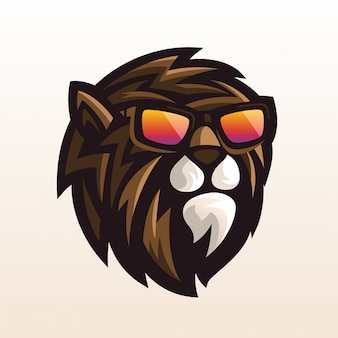 Logo de lunettes de lion