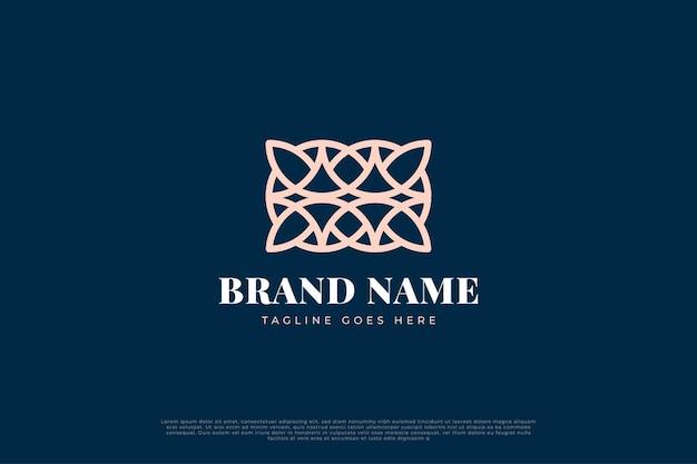 Logo de luxe abstrait avec ligne