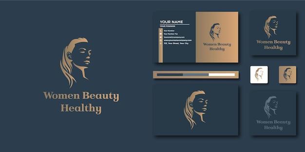 Logo de luxe de beauté. résumé de luxe pour la conception de logo et de carte de visite