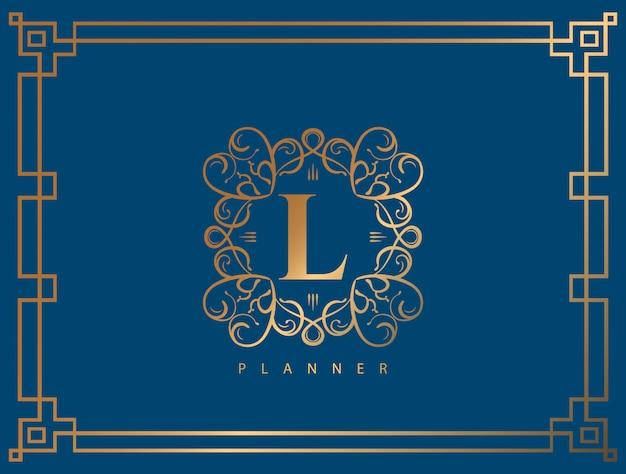 Logo de luxe avec couleur dorée