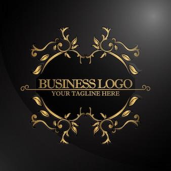 Logo de luxe avec couleur or