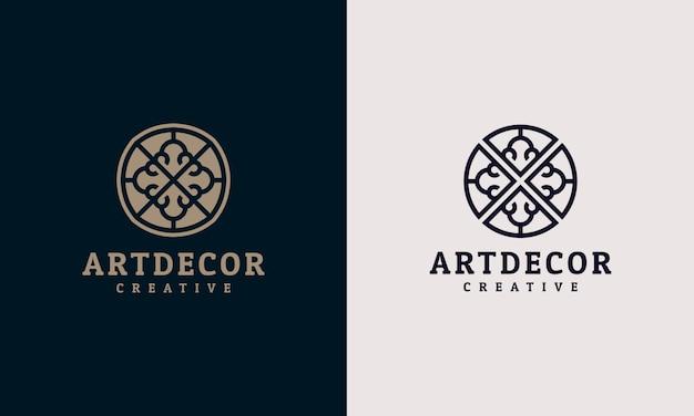 Logo de luxe de décoration élégante