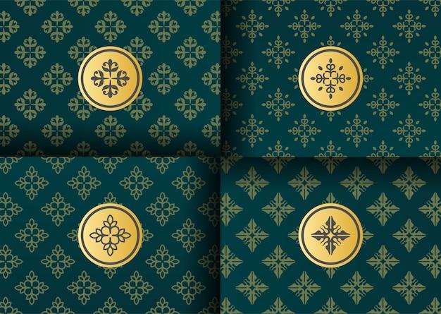 Logo de luxe avec emballage de motif
