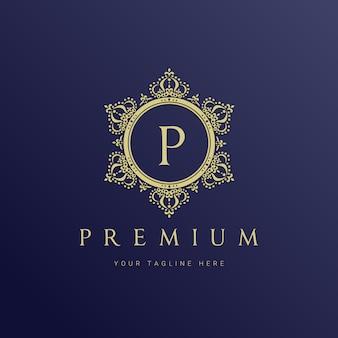 Logo de luxe. logo de crests. conception de logo pour hôtel, resort, restaurant, immobilier, spa, identité de marque de mode