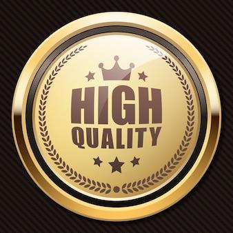 Logo de luxe métallique doré brillant de badge de haute qualité