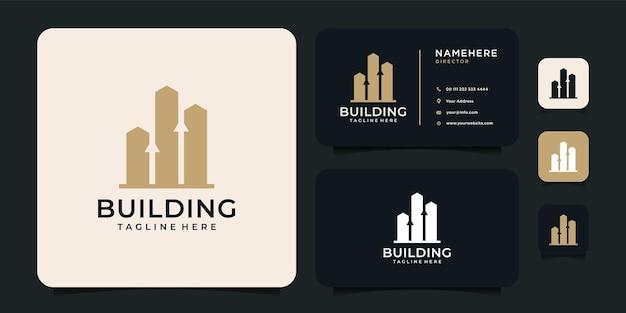 Logo de luxe or avec carte de visite