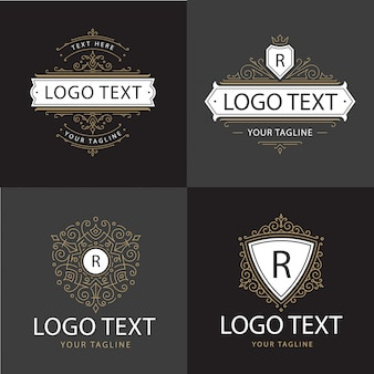 Logo de luxe ornement