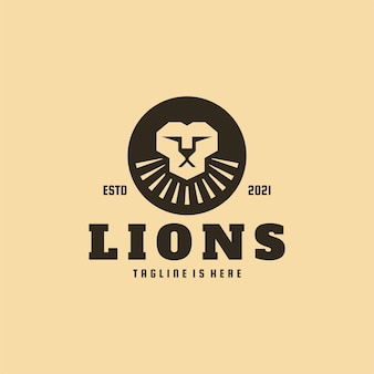 Logo de luxe simple lions circle