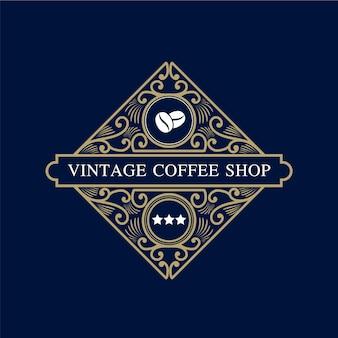 Logo de luxe de style héraldique de luxe rétro vintage
