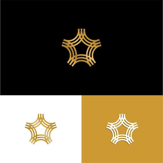Logo de luxe triple étoiles