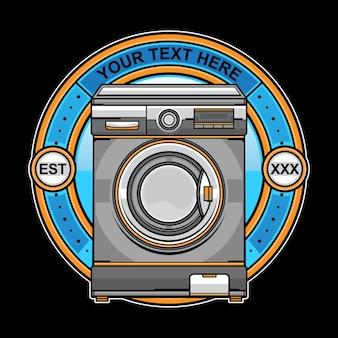 Logo de machine à laver blanchisserie