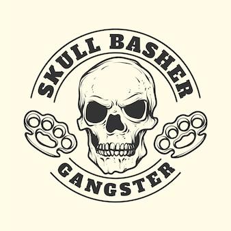Logo de mafia gangster vintage