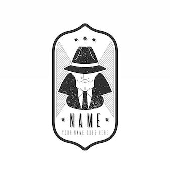 Logo de la mafia rétro