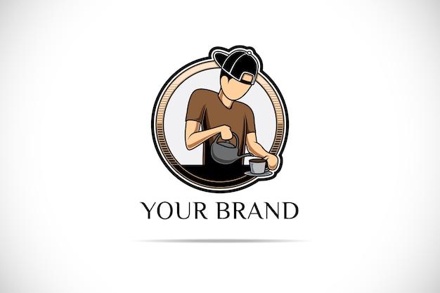 Logo de magasin de café