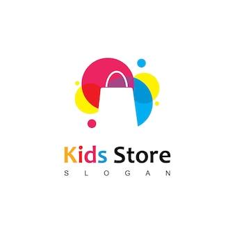 Logo de magasin d'enfants coloré