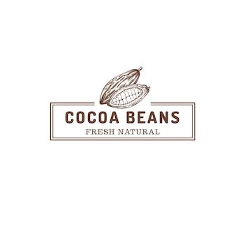 Logo de magasin de ferme de fèves de cacao