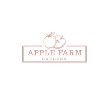 Logo de magasin de ferme de fruits de pomme