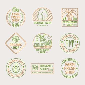 Logo de magasin frais et biologique de la ferme.