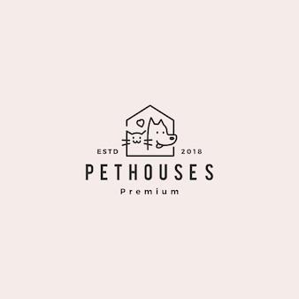 Logo de magasin de maison chien chat animal
