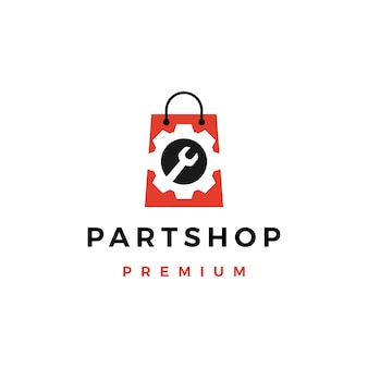 Logo de magasin de pièces détachées automobiles