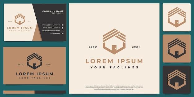 Logo maison abstrait simple