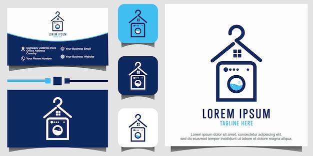 Logo de maison de blanchisserie
