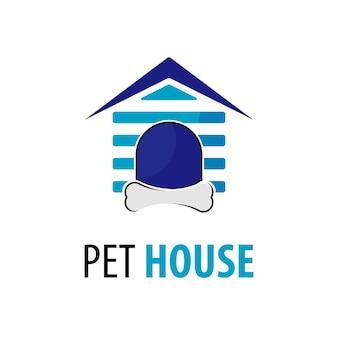 Logo de maison de chat vectoriel