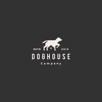 Logo maison chien maison