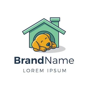 Logo maison de chien