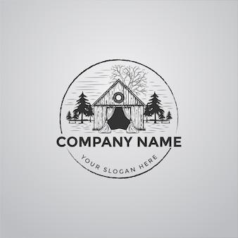 Logo de la maison avec des croquis abstraits