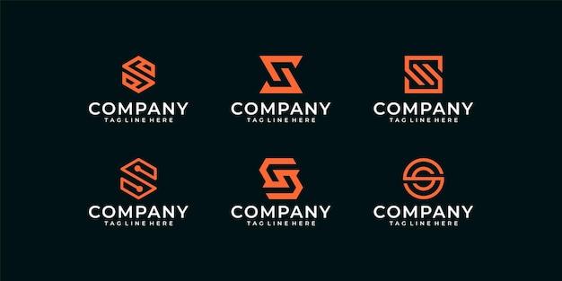 Logo de maison essentielle élégante de luxe avec modèle de conception de carte de visite.