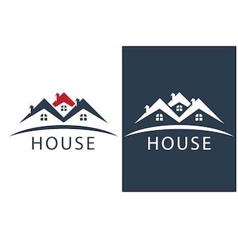 Logo de la maison et image vectorielle de symbole