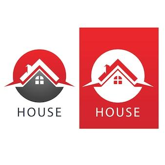 Logo De La Maison Et Image Vectorielle De Symbole Vecteur Premium