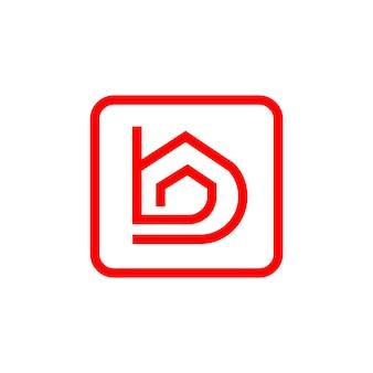 Logo de maison de maison de lettre b pour la société d'architecture