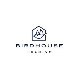 Logo de maison d'oiseau