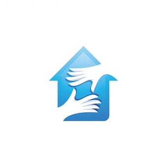 Logo maison et soins des mains
