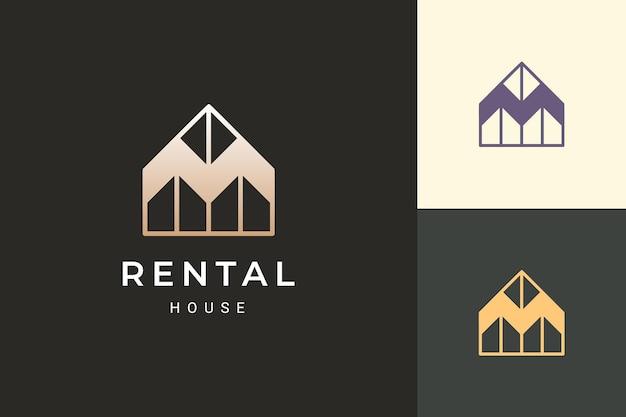 Logo de maison ou de villégiature dans un style de luxe pour les entreprises immobilières