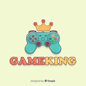 Logo de la manette de jeu dessiné à la main