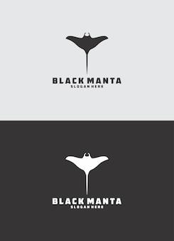 Logo manta noir