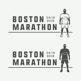 Logo marathon ou course