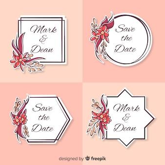 Logo de mariage dessiné à la main collectio