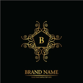 Logo de mariage de mot b sur le noir